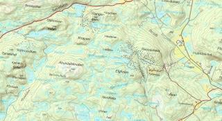 Raster Kart for Fjellestad området
